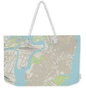 Jersey City New Jersey Us City Street Map Weekender Tote Bag