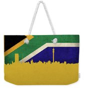Johannesburg South Africa World City Flag Skyline Weekender Tote Bag