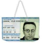 John Lennon Immigration Green Card 1976 Weekender Tote Bag