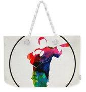 Johnny Cash Watercolor Weekender Tote Bag