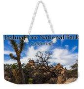 Joshua Tree National Park, California Box Canyon 02 Weekender Tote Bag