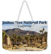 Joshua Tree National Park Valley, California Weekender Tote Bag