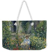 Julie And Ludovic-rodolphe Pissarro Among The Flowers, 1879 Weekender Tote Bag