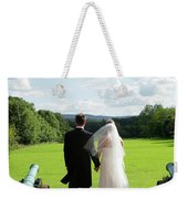 Just Married Looking To The Future Weekender Tote Bag