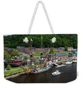Kalmar Nyckel At Port Weekender Tote Bag
