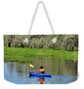 Kayaker In The Wild Weekender Tote Bag