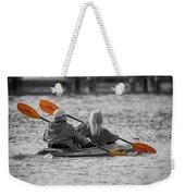 Kayaking Along The Magothy Weekender Tote Bag