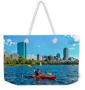 Kayaking On The Charles Weekender Tote Bag