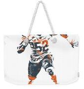 Khalil Mack Chicago Bears Pixel Art 1 Weekender Tote Bag