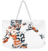 Khalil Mack Chicago Bears Pixel Art 30 Weekender Tote Bag