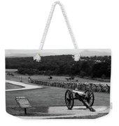 King William Artillery Marker In Black And White Gettysburg Weekender Tote Bag