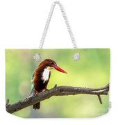 Kingfisher On The Lookout Weekender Tote Bag