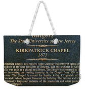 Kirkpatrick Chapel - Commemorative Plaque Weekender Tote Bag