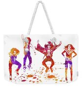 Kiss Band Watercolor Splatter 01 Weekender Tote Bag