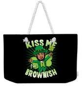 Kiss Me Im Brownish Black Leprechaun St Patricks Day Weekender Tote Bag