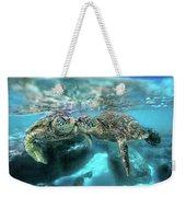 Kissing Turtle Weekender Tote Bag
