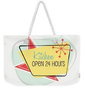 Kitchen Open 24 Hours- Art By Linda Woods Weekender Tote Bag