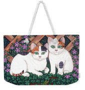 Kittens And Clover Weekender Tote Bag