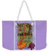 Kitty Watching Autumn Weekender Tote Bag
