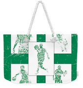Kyrie Irving Boston Celtics Panel Pixel Art 1 Weekender Tote Bag