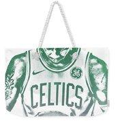 Kyrie Irving Boston Celtics Water Color Pixel Art 30 Weekender Tote Bag