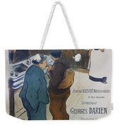 L Escarmouche, 1893 French Vintage Poster Weekender Tote Bag