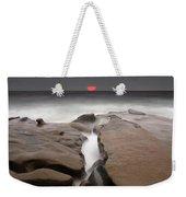La Jolla Red Sun Weekender Tote Bag