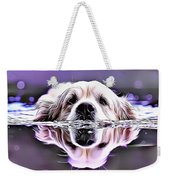 Labrador Swimming Weekender Tote Bag
