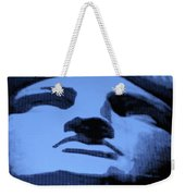 Lady Liberty In Cyan Weekender Tote Bag