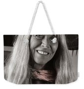 Lady With A Scarf Weekender Tote Bag by Ron Cline