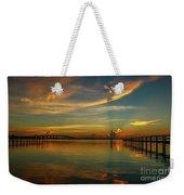 Lagoon Sunbeam Sunrise Weekender Tote Bag