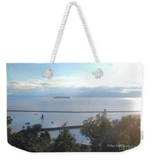 Lake Champlain Early Afternoon Sunshine Enhanced Weekender Tote Bag