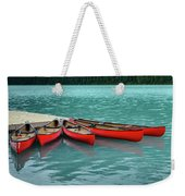 Lake Louise Canoes Weekender Tote Bag