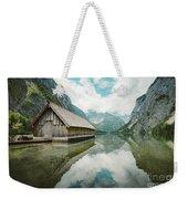 Lake Obersee Boat House Weekender Tote Bag