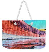 Lake Powell With Cliff Reflections Weekender Tote Bag