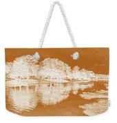 Lake Reflections In Brown Weekender Tote Bag