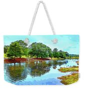 Lake Reflections On A Sunny Day Weekender Tote Bag