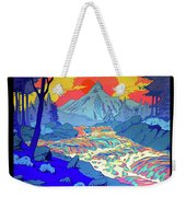 Landscape River Weekender Tote Bag