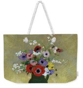 Large Green Vase With Mixed Flowers, 1912 Weekender Tote Bag