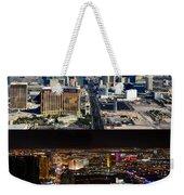 Las Vegas Night And Day Work A Weekender Tote Bag