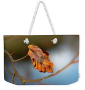 Last Leaves Of Autumn Weekender Tote Bag by Scott Lyons