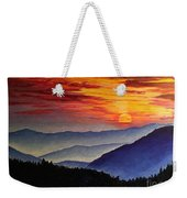 Laurens Sunset And Mountains Weekender Tote Bag