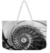 Lblack And White View Of Spiral Stairs Inside The Arch De Triump Weekender Tote Bag