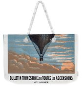 Le Ballon Aeronautical Journal, 1883 French Poster Weekender Tote Bag