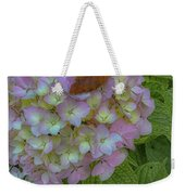 Leaf And Pink Weekender Tote Bag