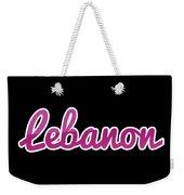 Lebanon #lebanon Weekender Tote Bag