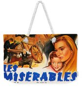 Les Miserables 1958 French Movie Classic Weekender Tote Bag