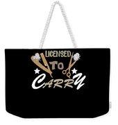 Licensed To Carry Hairstylist Hairdresser Scissors Weekender Tote Bag