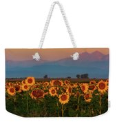 Light Of The Sunflowers Weekender Tote Bag by John De Bord