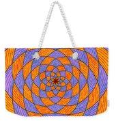 Light Violet On Blue, Yellow On Red Fractal Pattern Weekender Tote Bag